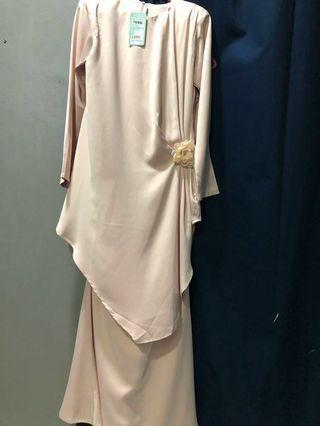 Baju Kurung dusty pink