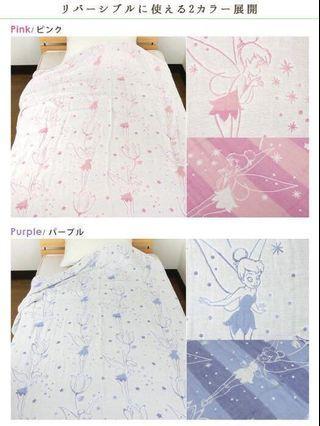 日本直送 全新現貨 六層紗 六重紗 嬰兒被 Disney tinkerbell 迪士尼