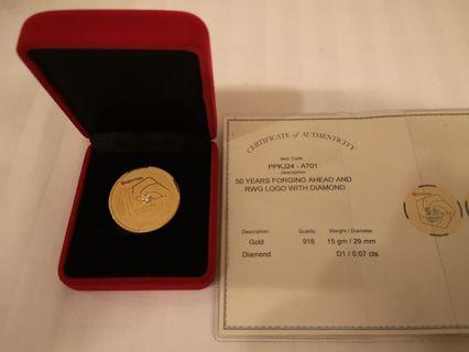 Gold 916 souvenir GENTING 50 years limited edition