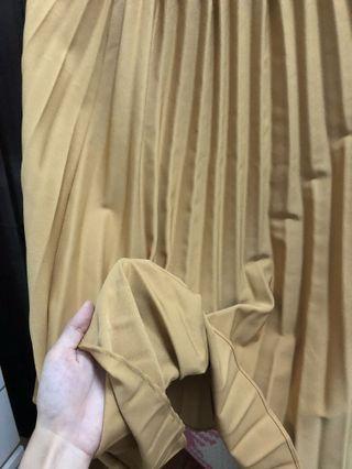 百褶裙 長裙