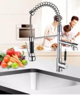 Kitchen spring faucet Basin faucet Hot and cold water mixing faucet -intl