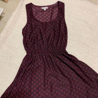 Cotton On maroon geometrical dress
