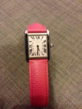 Cartier Tank Solo Watch not Rolex AP Panerai