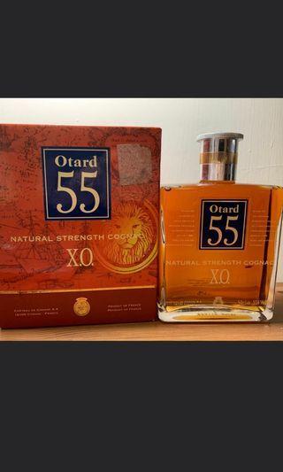 陳年豪達OTARD XO干邑55度原酒珍藏干邑500ml連盒一支。