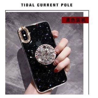 🚚 閃亮粉牙月時尚手機殼