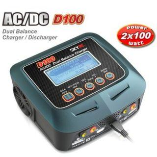 Skyrc D100 Charger Twin-Channel AC/DC LiPo 1-6s 2x100W Dual Balance Charger