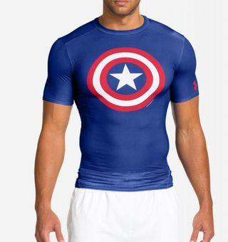 Captain America Compression T shirt by Under Armour