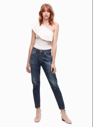 Aritzia Georgine Knit Top in Avorio Size XS