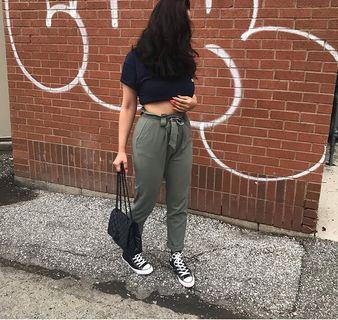 M boutique sage green jogger pants