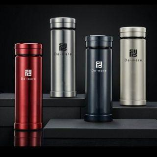 **Ready Stock** De-ware Thermal Flask (Glass Rim and Liner Insulated)