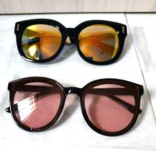 🚚 Oversize Mirror and Round Clear Lens Sunglasses