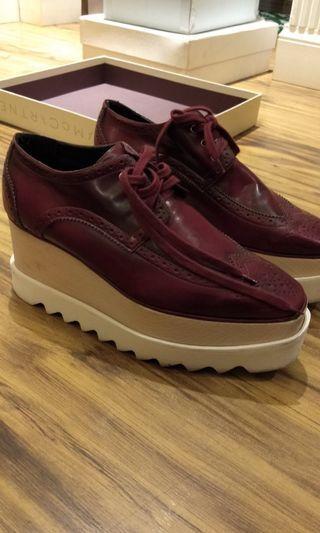 Authentic Mc Cartney Maroon Shoes
