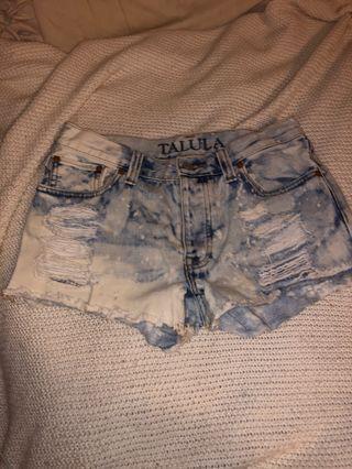Talulah Acid Wash Shorts #listaritzia