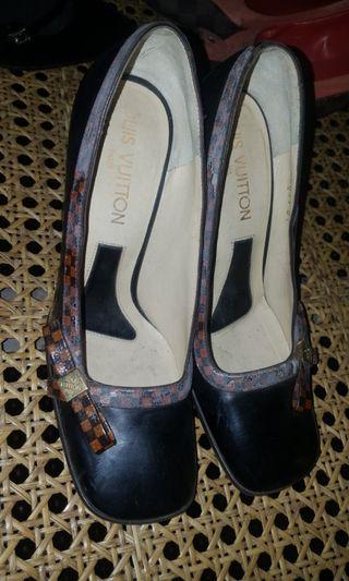 Louis Vuitton Damier High Sandals Authentic