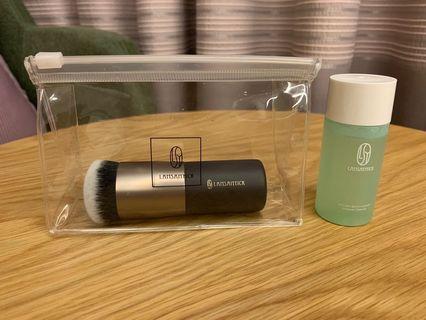 🚚 [全新] 林三益 粉底刷+ 刷具水洗液(膏/液狀適用)-小綠
