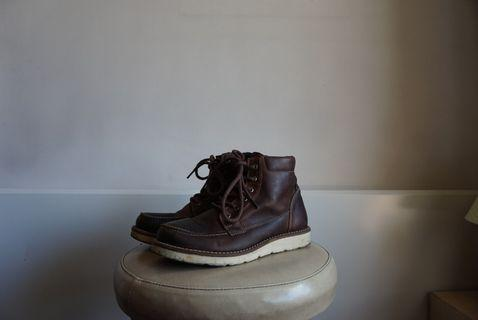 Brown Leather Lace-Up Boots 40
