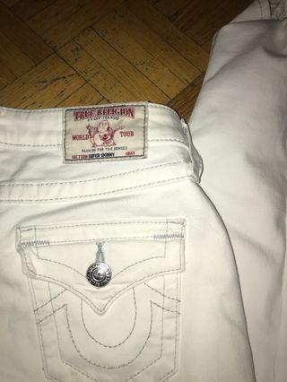White True Religion Ripped Jeans
