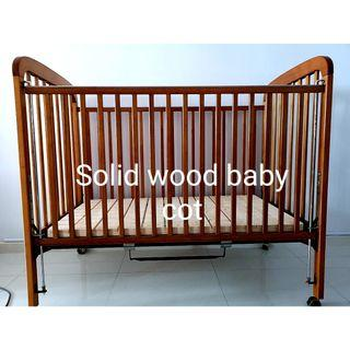 Solid Wood Baby Cot /Bed