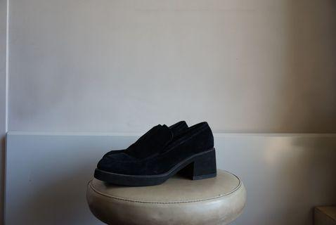 Black Slip-On Heels 39