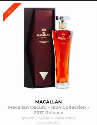 🚚 Macallan Oscuro 2017 edition