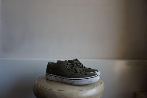 Khaki Vans Worn Once 40