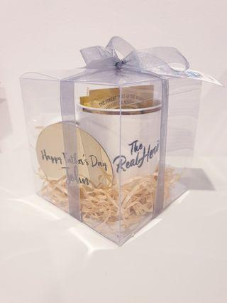 Personalised Father's Day Cup Coaster teabags gift sets