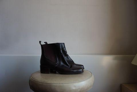 Brazilian-Made Brown Leather Boots 36