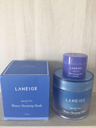 $20 MAILED!! Laneige Water Sleeping Mask 70ml + sample 15ml