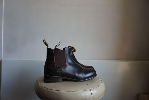 Brown Leather Boots 39