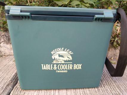Table cooler box camping fishing hunting