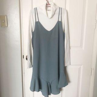 Gray-blue dress