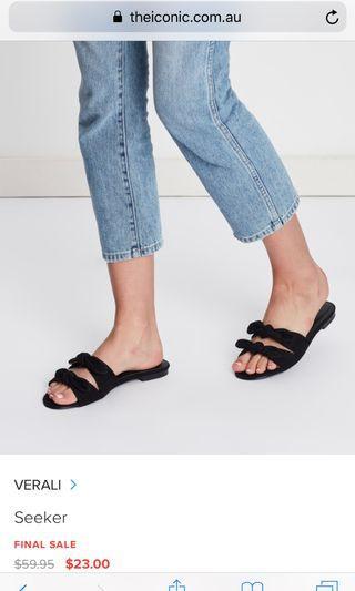 Verali black sandals brand new