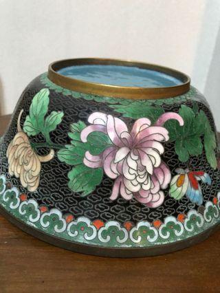 Antique vintage collectibles Antiques Porcelain collection Jingtailan bowl antique vase Everything Else Others Tops Women's bags Arts & Prints Chinese painting 瓷器收藏字画书法