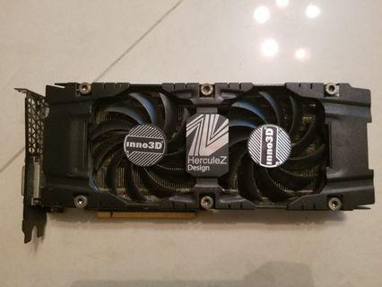 電腦遊戲顯卡 INNO3D GTX1070 8G  有盒無單  100%操作正常 1年保養