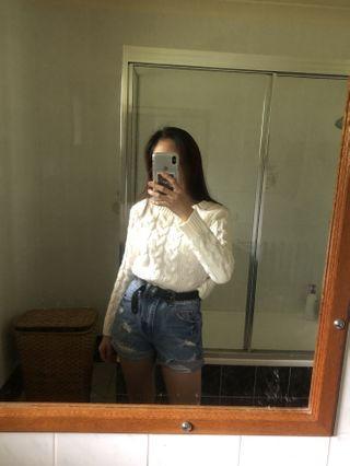 White Sweater (Crop?)