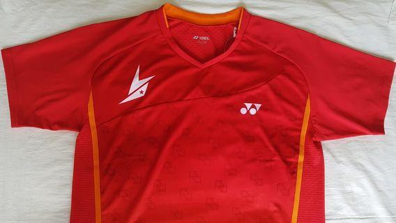 YONEX 10011LDCR LIN DAN 2017 SEASON Red Men's Shirt XL