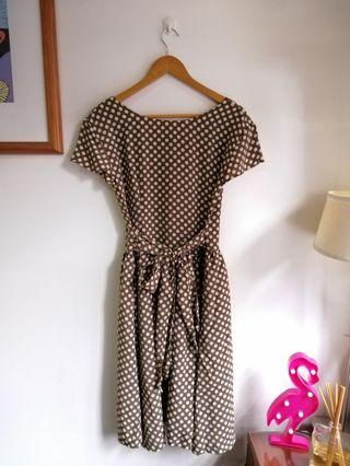 Polkadot midi dress