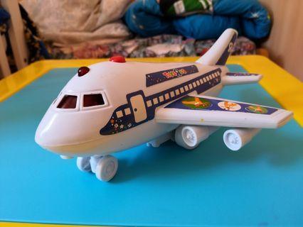 玩具飛機  發聲  有燈  有片