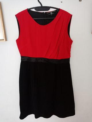 Red dress combination black