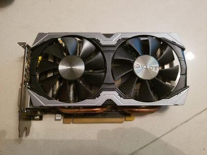 電腦遊戲顯卡  ZOTAC GTX1070  8G  有盒無單  100%操作正常 1年保養