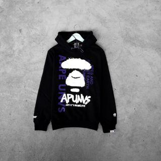Hoodie Aape Purple Somewhere