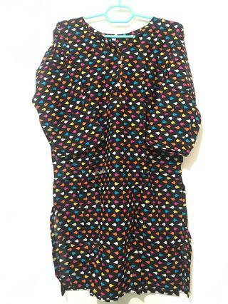Polkadot colorful kurti blouse