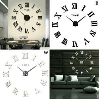 🌟PM for price🌟 🍀Roman Numerals Big Acrylic Walk Clock🍀