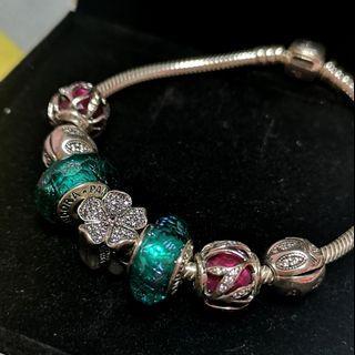 PANDORA Bracelet with Charms (PRISTINE CONDITION)