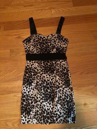Cheetah print formal dress