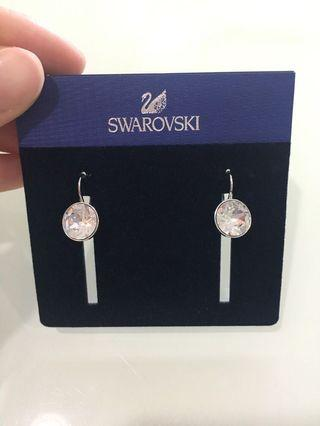 BN Swarovski Bella Mini Pierced Earring, White Rhodium Plating