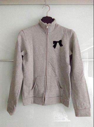 義大利BENETTON灰色外套,尺寸XS(2XL),100%棉