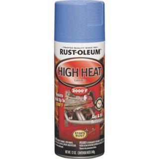 Rust-Oleum Automotive Rust Preventive High Heat Spray Paint, 12 Oz Aerosol Can, Flat Blue