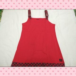 Red checkered suspender