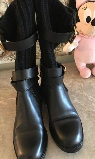 Authentic Gucci Leather/ Sweater boots